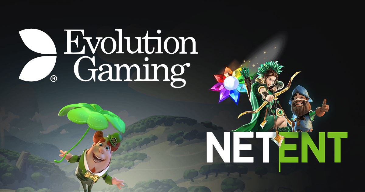 Evolution Gaming dan logo Netent